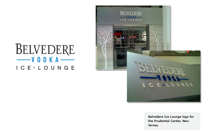 Belvedere Ice Lounge for the Prudential Center; New Jersey.