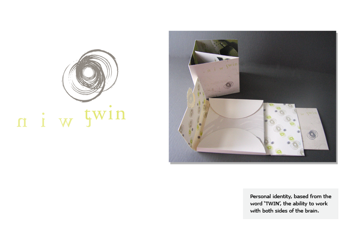 "Personal identity, based from the word ""TWIN"", the ability to work with both sides of the brain."